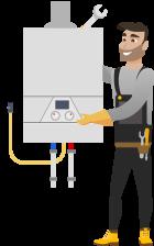 Стандартный монтаж газового котла до 35kW