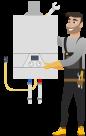 Стандартный монтаж конденсационного газового котла до 28kW