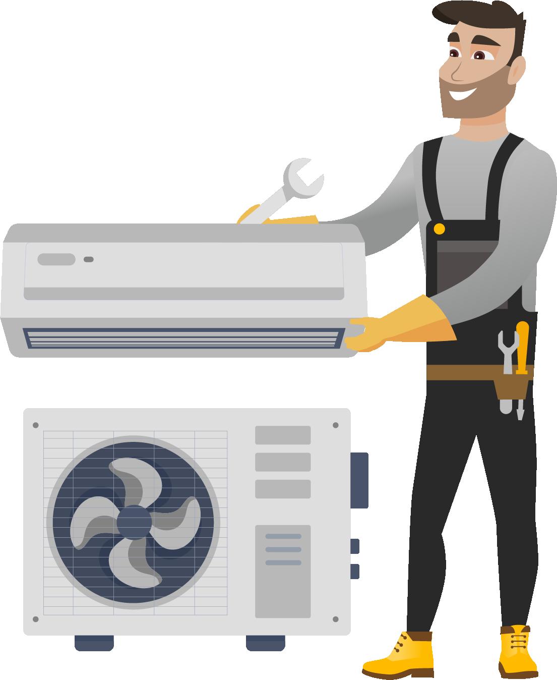 Instalarea Standard a aparatului de aer conditionat 24000 BTU (de la 6,2 la 7,2 kW)